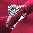 Silver Plated cubic zirconia New Wholesale Jewelry Wedding Ring size 5-8