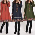 Women Loose Oversize Long Sleeve Party Casual Pullover Jumper Shirt Tops Dress