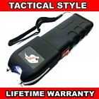 BLACK TACTICAL 999 MV Rechargeable LED FLASHLIGHT Military Stun Gun + Case