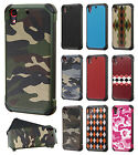For HTC Desire 626 Rubber IMPACT TRI HYBRID Case Skin Phone Cover Accessory