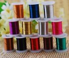 Multi-Color 12pcs Spools Copper Metal Wire Carft Jewelry Findings 0.3/0.4/0.5 mm