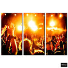 DJ Club Concert Music Yellows BOX FRAMED CANVAS ART Picture HDR 280gsm