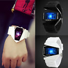 Fashion Men's Black Stainless Steel Luxury Sport Digital LED Wrist DIAL Watch image