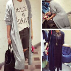 Femmes Batwing Cardigan Trench Cape Longue Manteau Veste Waterfall Ouvrir Pulls