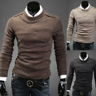 Fashion Men's Slim Fit Long Sleeved Shirt Casual Dress Shirts T Shirts Knitwear