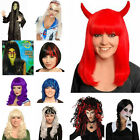 Adult Ladies Men's Halloween Party Trick Or Treat  Wig Zombie Vampire Curly