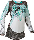 Fly Racing 2015 Kinetic MX ATV BMX WOMENS Jersey Teal/White YS-2XL