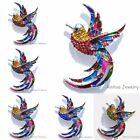 Fashion White Gold Plated Rhinestone Lucky Bird Brooch Pins Women Lady Jewelry