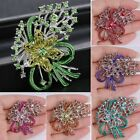 Wedding Bouquet Crystal Silver Flower Floral Lady Brooch Pin Beauty Jewelry Gift