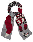 YUMI LADIES YAAA18 FOX PRINT SCARF GREY  RRP £25.00 VAR-SIZES