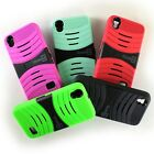 Hybrid Armor Protector Kickstand Phone Cover Case for Huawei SnapTo / Pronto LTE