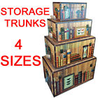 BOOKSHELF DESIGN TRUNK CHEST STORAGE TREASURE KEEPSAKE BOX GIFT BEDROOM TIDY NEW