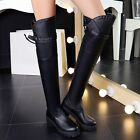Fashion Women's Over Knee High Thigh Boots Mototcycle Party Warm Knight Shoes SZ