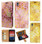 For HTC Desire 626 Premium Leather Wallet Pouch Flip Case Flip Phone Cover Lips