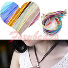 10X Organza Voile String Ribbon Necklace Lobster Clasp Silk Cords 12 Colors Gift