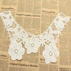 White Applique Lace Embroidered Venise Floral Neckline Neck Collar Trim Sewing