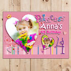 Personalised Girls 1st 2nd 3rd 4th 5th Happy Birthday PHOTO Poster Banner N35.