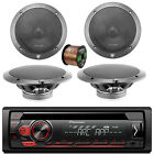"""Pioneer CD 1-DIN AM/FM Car Stereo, 2x 6.5"""" 4 OHM Speakers, 16-G 50 Ft Wire"""