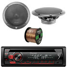 """Pioneer CD 1-DIN AM/FM Car Stereo, 2x L65-S 6.5"""" Speakers, 16-G 50 Ft Wire"""