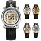 KS Royal Carving Luxury Men Sport Leather Automatic Mechanical Watch