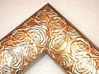 "2.3"" Aged Metallic Gold Rose Ornate Wood Canvas Picture Fram-Custom Square Sizes"