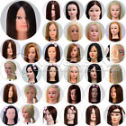 "22-26"" Real Human Salon Hairdressing Practice Training Cut Head Mannequin Clamp"