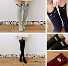 Women School Girl 3D Cartoon Animal Pattern Knee  Thigh High Stockings Socks