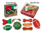 Hoilday Dog Gift Set - 4 Piece Toy Set Perfect For Good Dogs BULK LOT PACKS TOO!