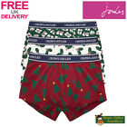 Joules Crown Joules Deck Your Balls 3 pack Christmas Mens Underwear Boxers (T)