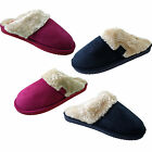 Jyoti Ladies Mule Slippers New Womens Faux Sheepskin Fur Slip On Suede Mules