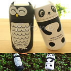 1PC New Design 220ML Portable Cute Panda&Owl Thermos Stainless Steel Vacuum Cup