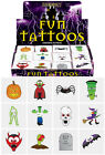 CHILDRENS KIDS HALLOWEEN TATTOOS TRANSFERS BOYS GIRLS PARTY LOOT BAG FILLERS