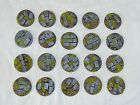Paved 32mm round scenic bases, Sci-fi fantasy by Daemonscape Qty10-50