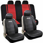 Synthetic Leather Jeep Sideless & Split Bench Seat Covers Universal Car SUV
