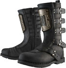 Icon 1000 Elsinore HP Street Motorcycle Riding Boots Black Mens All Sizes