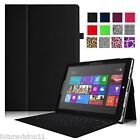 Leather Case Cover for Microsoft Surface 3/Surface Pro 3 w/ Stylus Holder Stand