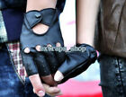 Newest Women's Leather Gloves Half Finger Fingerless Stage Sport Cycling Driving