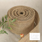 "50 Yards/5 Rolls 10oz Burlap Ribbon Roll 2/4/6"" Wide Rustic Wedding Party Decor"