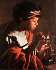 Young Man with a Pipe  (classic Dutch Baroque art print)