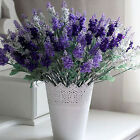 10 Heads Lavender Flowers Silk Artificial Bouquet Wedding Home Party Decor CY