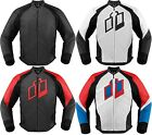 Icon Hypersport Prime Leather Motorcycle Riding Jacket Mens All Sizes All Colors