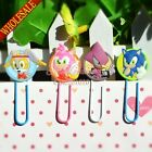 100pcs Sonic Cartoon Bookmarks For BooSk Holder,PVC Paper clips Students Gifts