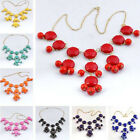 1pc Women Girl Jewelry Bubble Necklace Bib Statement Fashion Chain Many Colors