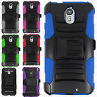 Motorola Droid Turbo 2 Combo Holster HYBRID KICK STAND Hard Rubber Case Cover