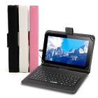 "iRULU HD 9"" 8GB GMS Android 4.4 Quad Core Bluetooth Black Tablet PC w/ Keyboard"