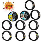 1pc Looney Tunes Characters Car Truck Suv Black Steering Wheel Cover Universal