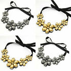 New Fashion Lady Grace Bright Crystal Flower Choker Collar Gems Necklace