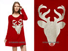 RED 32 PLUS SIZE RED NOSE REINDEER DEER DRESS Tunic Top Christmas 1X 2X 3X