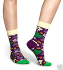 Happy Socks 1 Pair Hawaii Flowers Socks Socks Purple 36-40