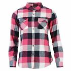 Lee Cooper Womens Flannel Ladies Shirt Long Sleeve Top Button Down Casual